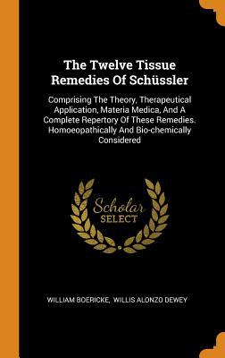 The Twelve Tissue Remedies of Schssler: Comprising the Theory, Therapeutical Application, Materia Medica, and a Complete Repertory of These Remedies.