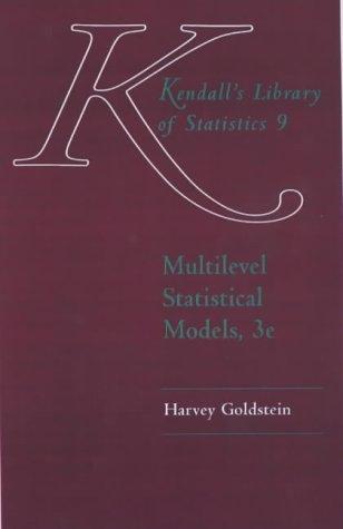 Multilevel Statistical Models 9780340806555