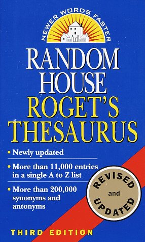 Random House Roget's Thesaurus 9780345400949