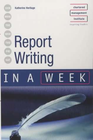 Report Writing in a Week 9780340849569
