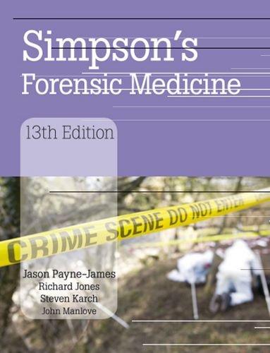 Simpson's Forensic Medicine 9780340986035