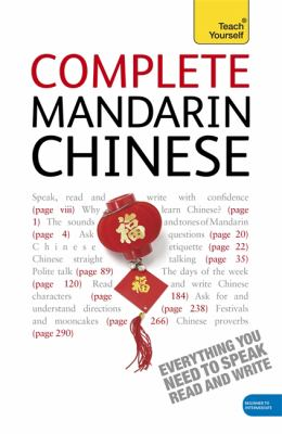 Teach Yourself Complete Mandarin Chinese 9780340958957