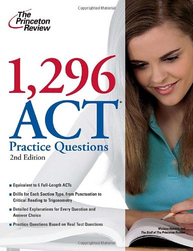 1,296 ACT Practice Questions 9780375429705