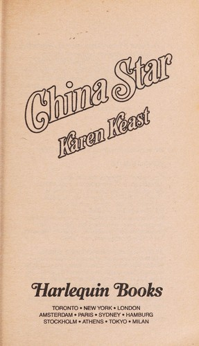 China Star By Karen Keast 9780373286133 Reviews Description And