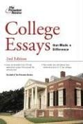 College Essays That Made a Difference 9780375765681