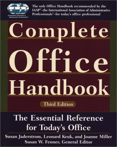 Complete Office Handbook: Third Edition 9780375709296