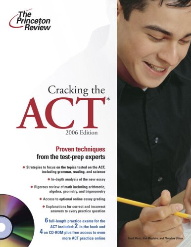 Cracking the ACT [With CDROM] 9780375765247