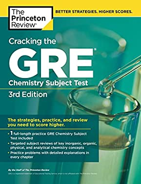 Cracking the GRE Chemistry Subject Test 9780375764899