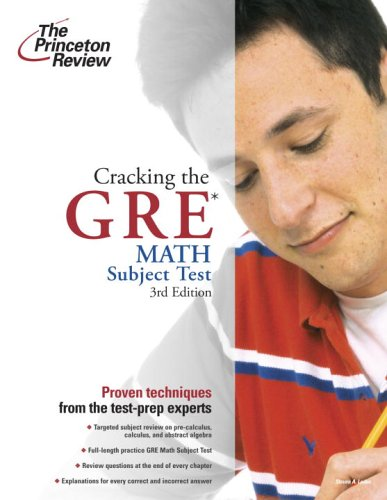 Cracking the GRE Math Subject Test 9780375764912