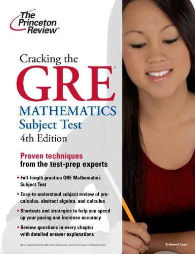 Cracking the GRE Mathematics Subject Test 9780375429729