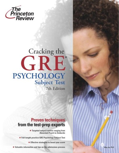 Cracking the GRE Psychology Subject Test 9780375764929