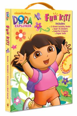 Dora the Explorer Fun Kit! [With Sticker(s) and Crayons and Punch-Out(s) and 3 Paperbacks] 9780375865275