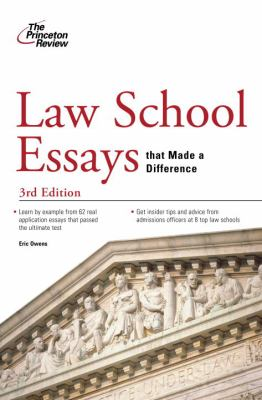 Law School Essays That Made a Difference 9780375428777