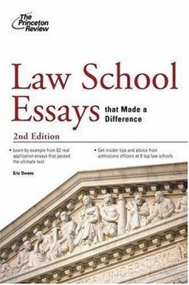 Law School Essays That Made a Difference 9780375765704