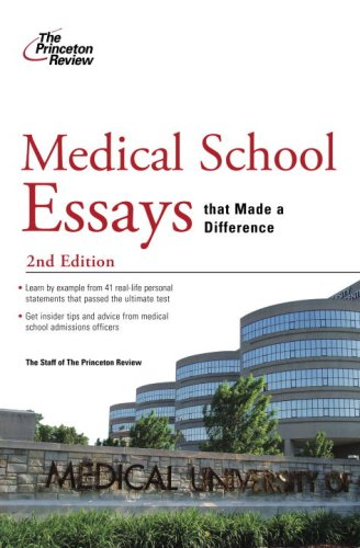 Medical School Essays That Made a Difference 9780375428791