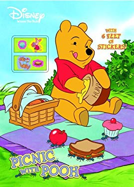 Picnic with Pooh [With 6 Foot Sticker Roll] 9780375875137