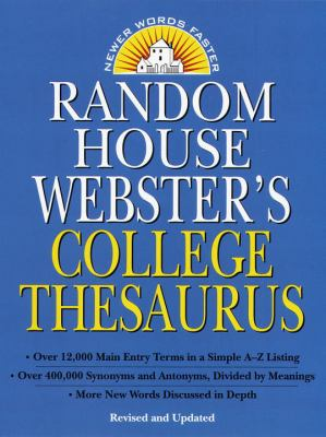 Random House Webster's College Thesaurus 9780375400667