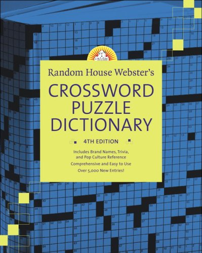 Random House Webster's Crossword Puzzle Dictionary 9780375721311