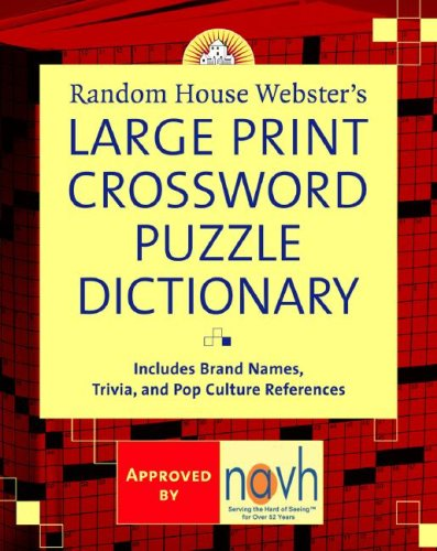 Random House Webster's Large Print Crossword Puzzle Dictionary 9780375722202