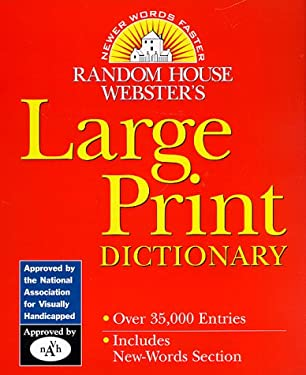 Random House Webster's Large Print Dictionary 9780375401145