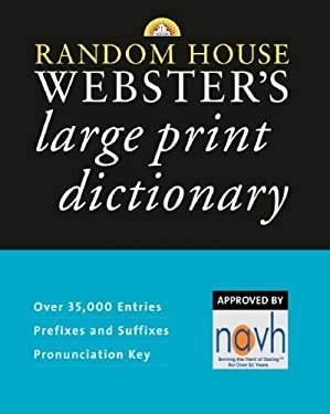 Random House Webster's Large Print Dictionary 9780375722325