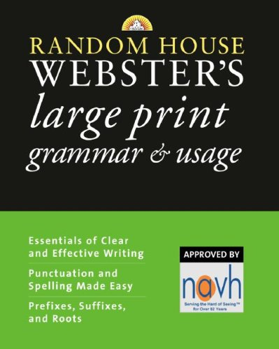 Random House Webster's Large Print Grammar & Usage 9780375722318
