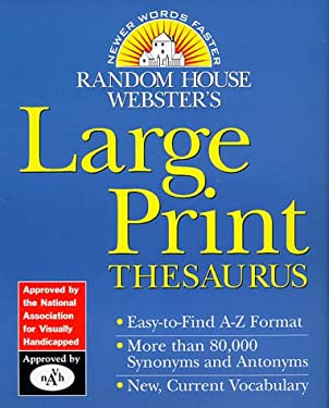 Random House Webster's Large Print Thesaurus 9780375402203