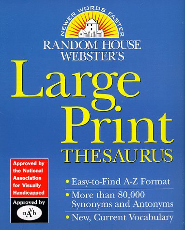 Random House Webster's Large Print Thesaurus 9780375702112