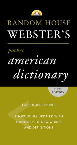 Random House Webster's Pocket American Dictionary 9780375722714