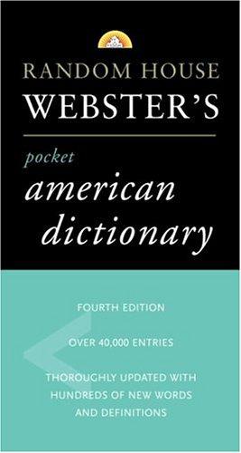 Random House Webster's Pocket American Dictionary 9780375719370