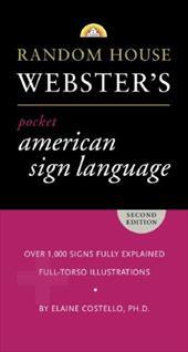 random house websters pocket american sign language dictiona