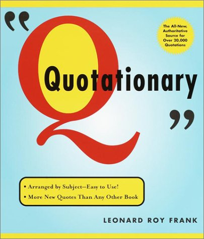 Random House Webster's Quotationary 9780375719684