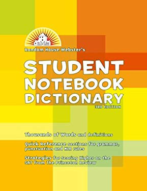 Random House Webster's Student Notebook Dictionary 9780375722677