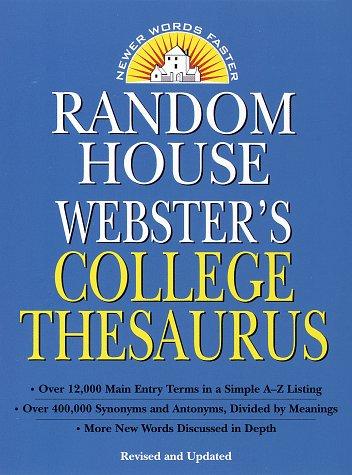 Rh Webster College Thesaurus__revised 9780375700651