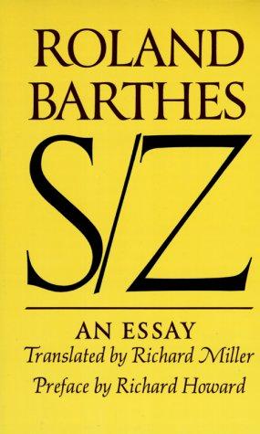 S/Z: An Essay 9780374521677