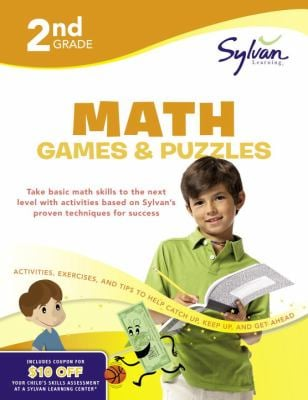 Second Grade Math Games & Puzzles (Sylvan Workbooks) 9780375430374