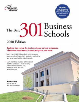 The Best 301 Business Schools 9780375429590