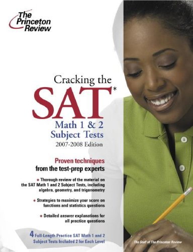 The Princeton Review Cracking the SAT Math 1 & 2 Subject Tests 9780375765933