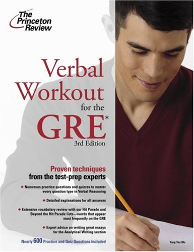 Verbal Workout for the GRE 9780375765735