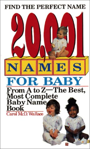 20,001 Names for Baby: Revised and Updated 9780380762279