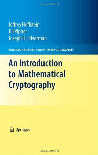 An Introduction to Mathematical Cryptography 9780387779935