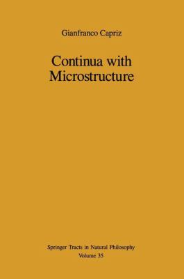 Continua with Microstructure 9780387968865