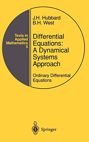 Differential Equations: A Dynamical Systems Approach: Ordinary Differential Equations 9780387972862