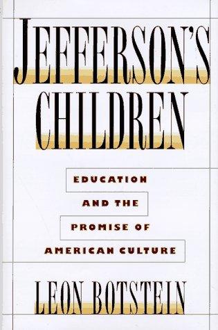 Jefferson's Children 9780385475556