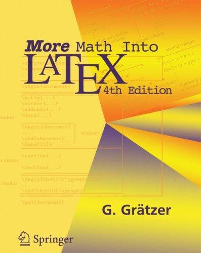 More Math Into Latex 9780387322896
