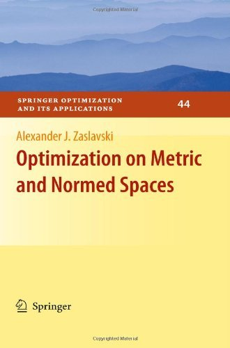 Optimization on Metric and Normed Spaces 9780387886206