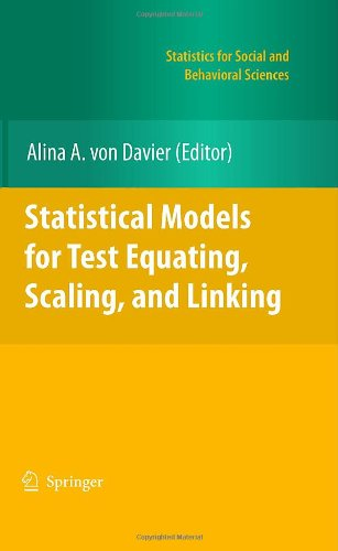 Statistical Models for Test Equating, Scaling, and Linking 9780387981376