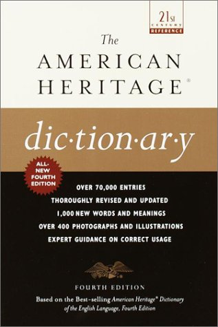 The American Heritage Dictionary: Fourth Edition 9780385335768