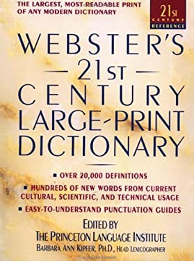 Webster's 21st Century Large Print Dictionary