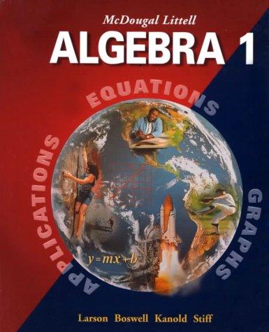 Algebra 1 9780395937761